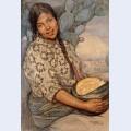 Mujer con calabaza