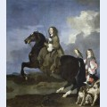 Equestrian portrait of christina queen of sweden