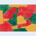 Composition verte rouge et jaune