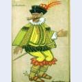 Costume designs for petrushka by stravinsky in metropolitan opera capitain