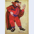 Costume designs for petrushka by stravinsky in metropolitan opera pantalone