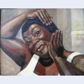 Fixing her hair ruby elzy in porgy and bess