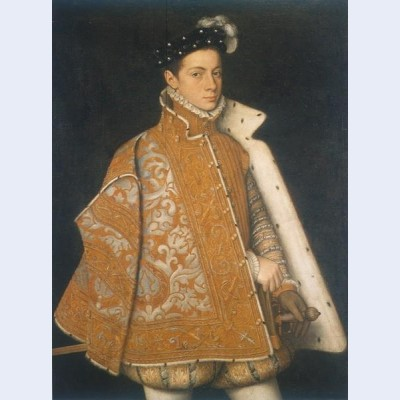 A portrait of a young alessandro farnese the future duke of parma