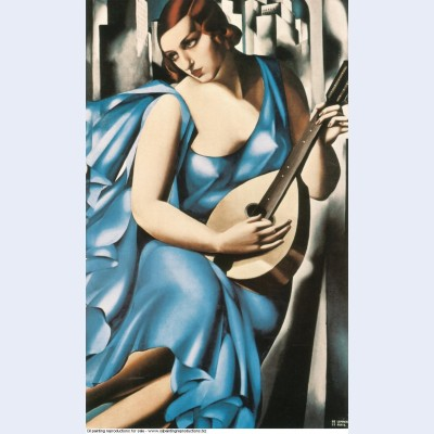Blue woman with a guitar 1929