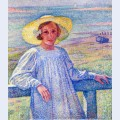Elisaeth van rysselberghe in a straw hat