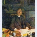 Emile verhaeren in his study