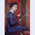 Woman with violin portrait of rene druet