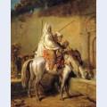 Arabes faisant boire leurs chevaux
