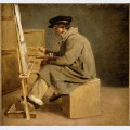 Young painter at his easel