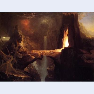 Expulsion moon and firelight