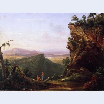 Indians viewing landscape