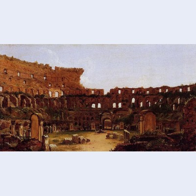 Interior of the colosseum rome