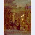 Compositional study for william rush carving his allegorical figure of the schuylkill river