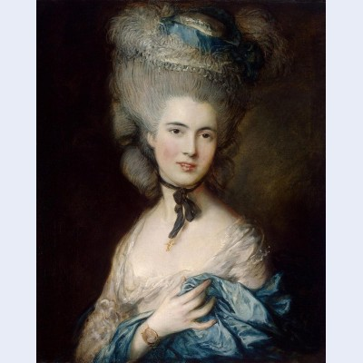A woman in blue portrait of the duchess of beaufort