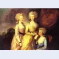 The three eldest daughters of george iii princesses charlotte augusta and elizabeth