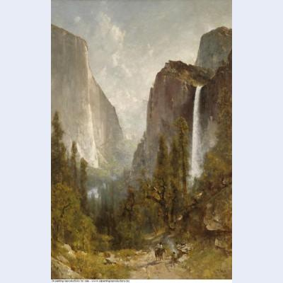 Bridal veil falls yosemite valley