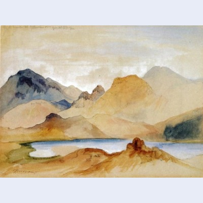 Cinnabar mountain yellowstone river watercolour