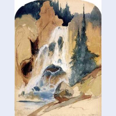 Crystal falls watercolour