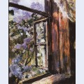 Open window lilacs