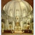 Interior of trinitarian church in vilnius lithuania