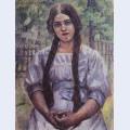A girl with braids portrait of a a dobrinskaya