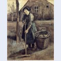 A girl raking 1881 1