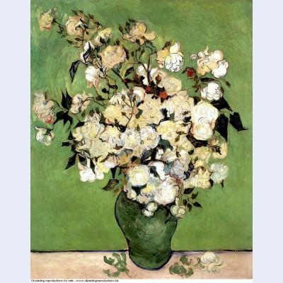 A vase of roses 1890 1