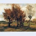 Autumn landscape with four trees 1885 1