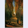 Avenue of poplars at sunset 1884 1 1