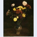 Basket of carnations and zinnias 1886 1