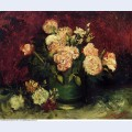 Bowl with peonies and roses 1886 1