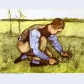 Boy cutting grass with a sickle 1881 1