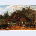 Cottage and woman with goat 1885 1