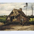 Cottage with peasant coming home 1885 1