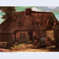 Cottage with peasant woman digging 1885 1