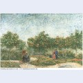 Couples in the voyer d argenson park at asnieres 1887 1