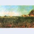Farmhouses in a wheat field near arles 1888 1
