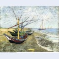 Fishing boats on the beach at les saintes maries de la mer 1888 1