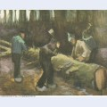 Four men cutting wood 1882 1