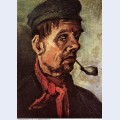 Head of a peasant with a pipe 1885 1