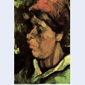 Head of a peasant woman with dark cap 1885 6 1