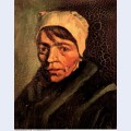 Head of a peasant woman with white cap 1885 1 1