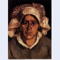 Head of a peasant woman with white cap 1885 2 1