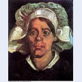 Head of a peasant woman with white cap 1885 5 1