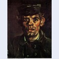 Head of a young peasant in a peaked cap 1885