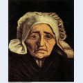 Head of an old peasant woman with white cap 1884 1