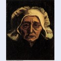 Head of an old peasant woman with white cap 1884