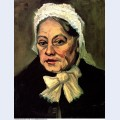 Head of an old woman with white cap the midwife 1885 2