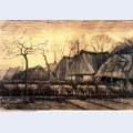Houses with thatched roofs 1884