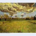 Landscape under a stormy sky 1888